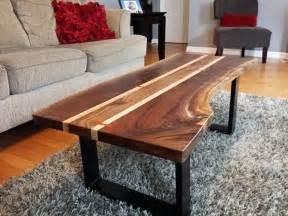 Walnut live edge coffee table k heaton design