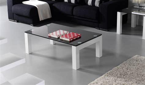 mesa de centro lacada  cristal