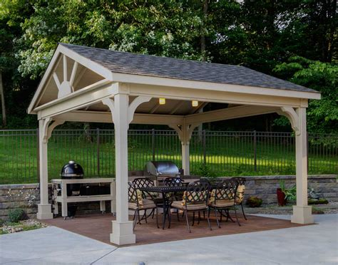 Gable Roof Gazebo Cedar Gable Roof Open Rectangle Gazebos With 6 12 Roof