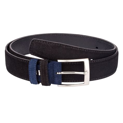 black suede leather belt mens belts custom buckle italian