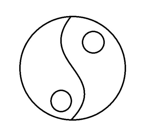 yin and yang coloring page colored page yin and yang painted by sad