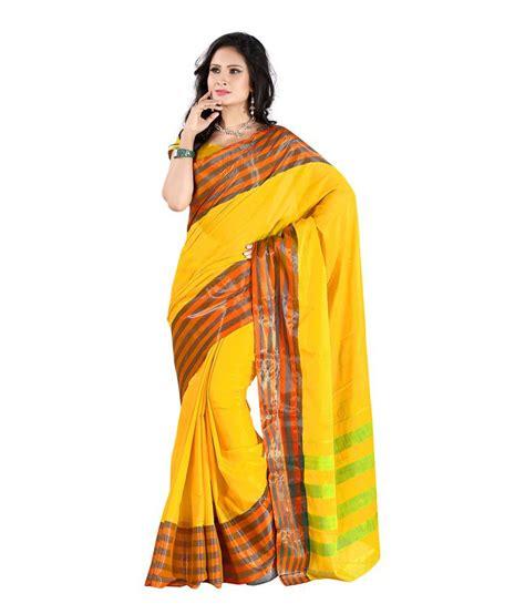 Yellow Home Decor Fabric 42 off on mehta sadi yellow cotton silk saree on snapdeal