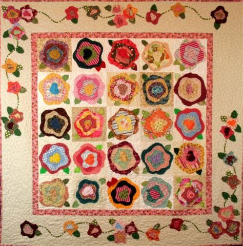 Free Flower Quilt Patterns by 33 Best Cabbage Quilts Images On