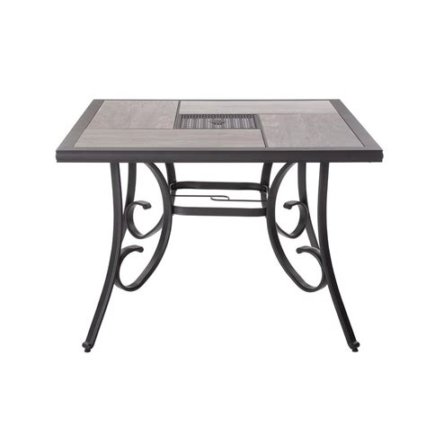 Hton Bay Patio Table - hton bay crestridge 40 in square outdoor dining table