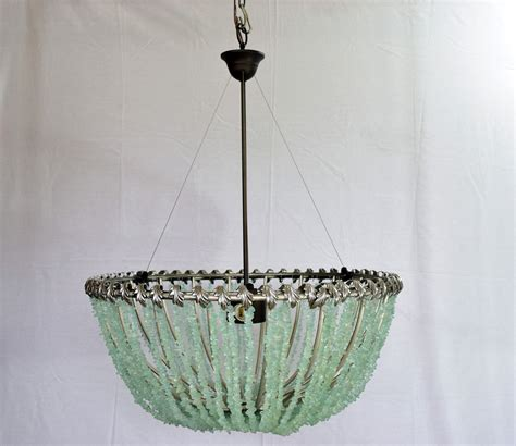 Sea Glass Chandeliers Buy A Crafted Fran 231 Ois Au Courant Interiors Llc 20 Quot Open Sea Glass Chandelier Made To