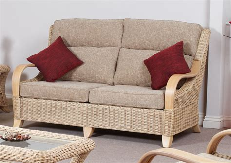 Hilton Conservatory Cane Furniture Large Wicker Sofa Settee