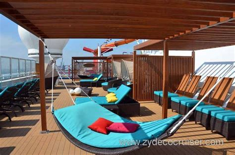 serenity deck carnival magic serenity yes hammock on a cruise