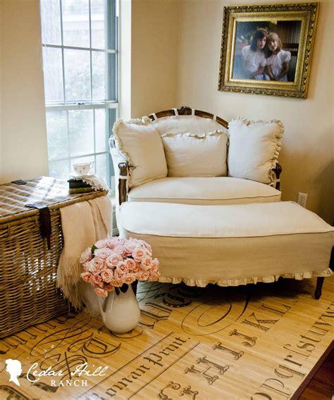 corner chair with ottoman homespun christmas handmade holidays cedar hill farmhouse