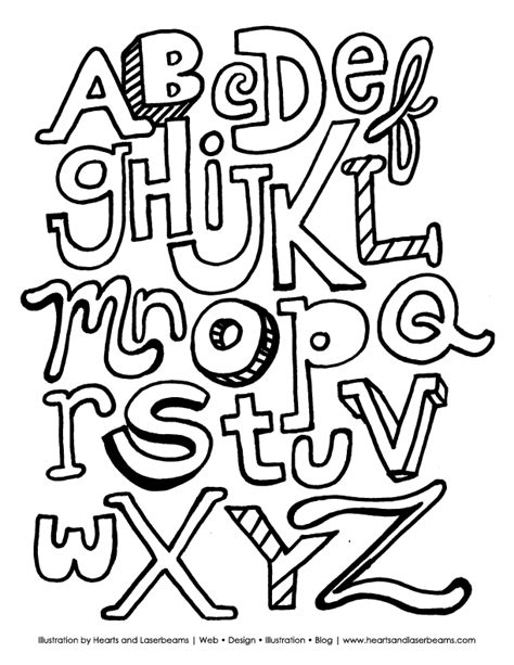 free coloring sheets alphabets printable the abc letters free printable alphabet coloring book page