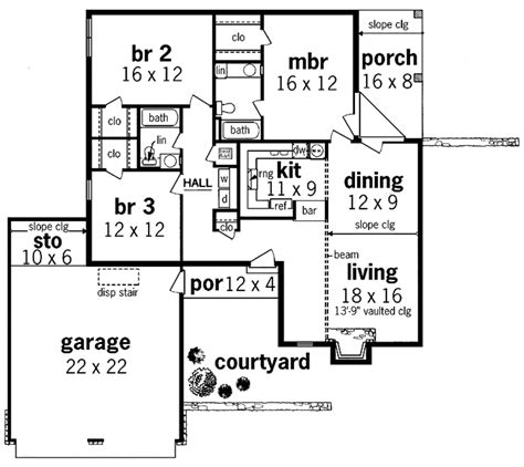 house plan 45 8 62 4 contemporary style house plan 3 beds 2 baths 1407 sq ft