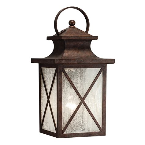 Outdoor Light Lowes Shop Kichler Lighting 15 98 In H Olde Brick Outdoor Wall Light At Lowes