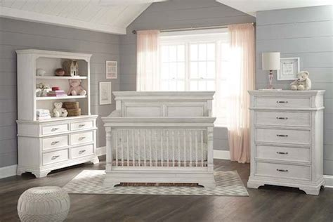 Rustic White Baby Crib Kerrigan Nightstand In Rustic White Specialty Baby