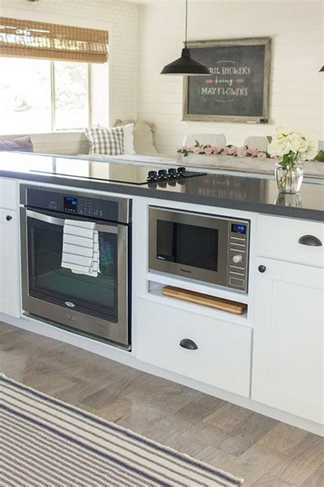 kitchen island with microwave the one trick for an infinitely prettier kitchen gas oven oven and ranges