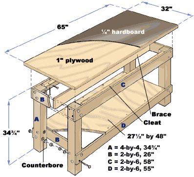 plans designs  wooden work bench  corner