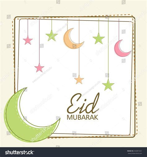 eid mubarak card template greeting card template eid mubarak stock illustration