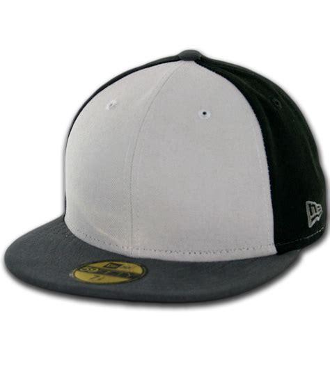 new era hats new era blanks 59fifty plain fitted hat tritone black grey