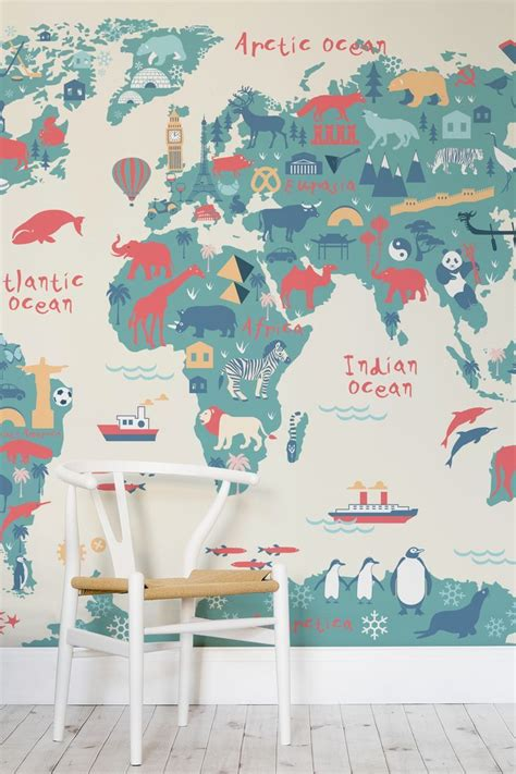 Safari Map Mural Wallpaper Muralswallpaper - best 25 world map wallpaper ideas on world