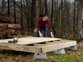 concrete deck blocks build your own simple shed from scratch decking screws