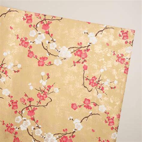 Handmade Gift Wrap - pink gold blossom handmade gift wrap world market