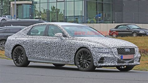 Hyundai Genesis G80 2020 by 2020 Genesis G80 Loses Camouflage Reveals Front Fascia