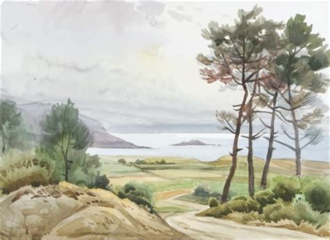 imagenes de paisajes gallegos acuarelas del pintor ferrolano jos 233 gonz 225 lez collado