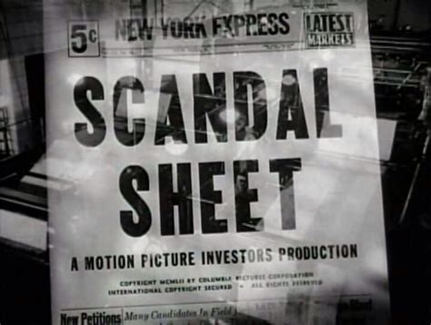 watch online scandal sheet 1952 full movie official trailer scandal sheet film noir 1952 film noir film noir scandal and films
