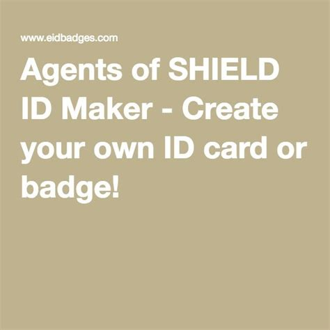badge maker make your own id cards agents of shield id maker create your own id card or