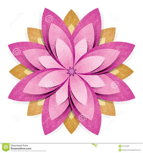 Papercraft Flowers - flower origami recycled paper craft stock photo image