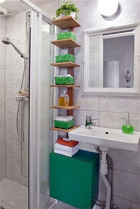 139 Best Images About Small Bathroom Ideas On Pinterest Small Storage Shelves For Bathrooms