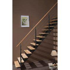 escalier escatwin escapi quart tournant en bois et aluminium 16 marches leroy merlin promo