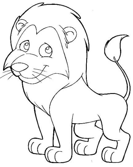 simple lion coloring page easy lion face coloring pages