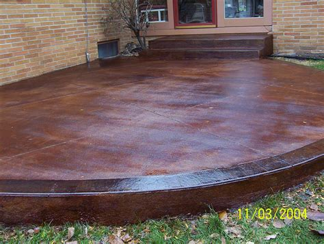 Stained Concrete Patio Pictures - hton bay westbury 9 patio high dining set s9