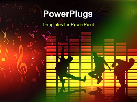 ppt themes dance vector composition 2d dance music cool art powerpoint