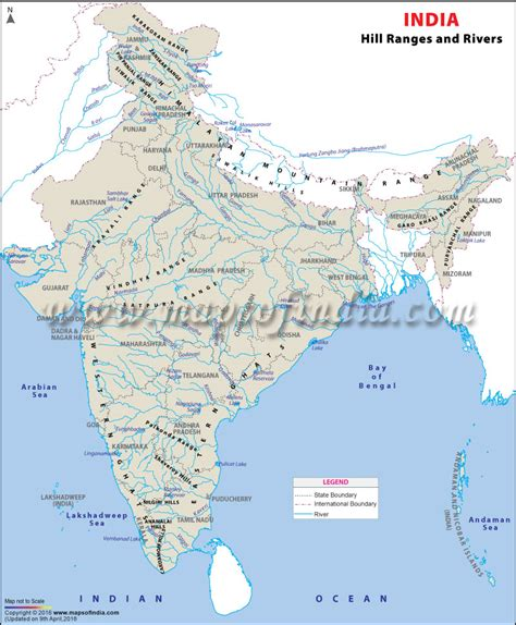 range map mountain ranges of india hill range and river map of india