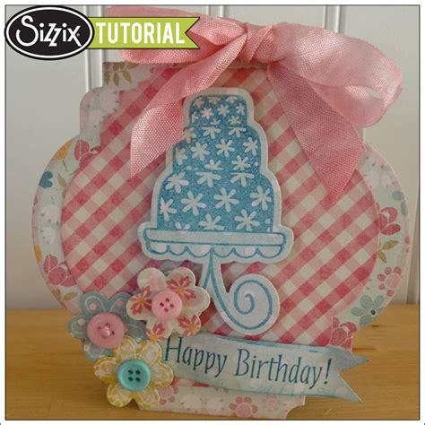 Cutting Dies Happy Birthday Card Patern framelit card tutorial by barnard sizzix the start of something you 174