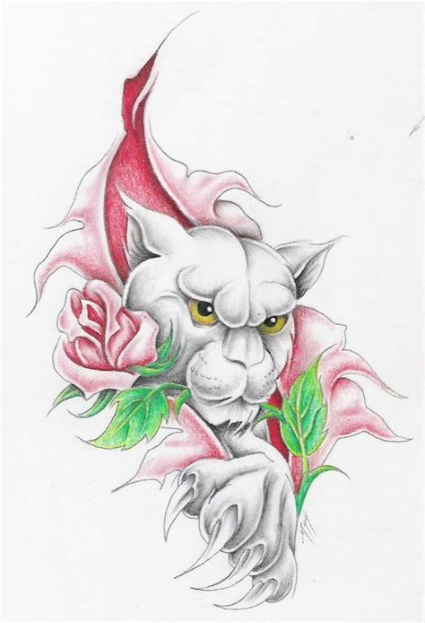 panther w rose 3 by markfellows on deviantart