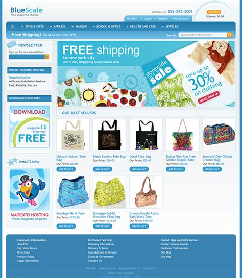 13 eye catching free magento themes for your magento