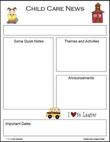 daycare newsletter templates 1 2 3 learn curriculum monthly newsletter templates
