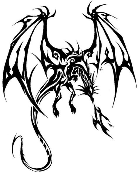 best tribal dragon tattoo design by sultrad