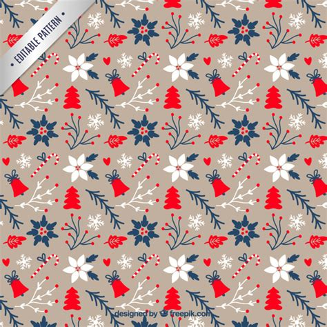 christmas pattern ai lovely floral christmas pattern vector free download