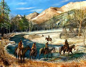 River crossing limited edition fine art print native american indian