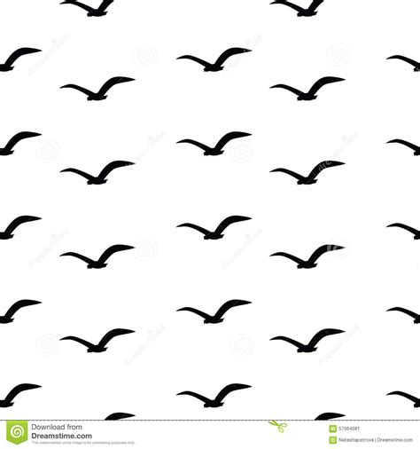 black and white bird pattern seamless pattern with black birds on a white background