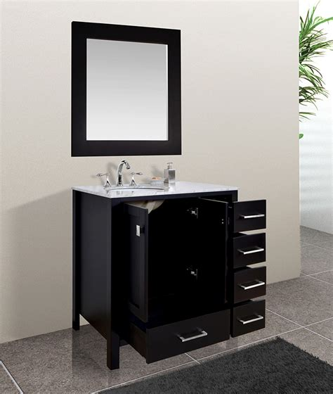 36 inch bathroom cabinet malibu 36 inch contemporary espresso cabinet only bathroom