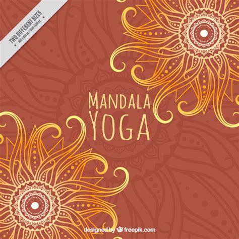 imagenes de fondo yoga mandala de la yoga en un fondo de color naranja