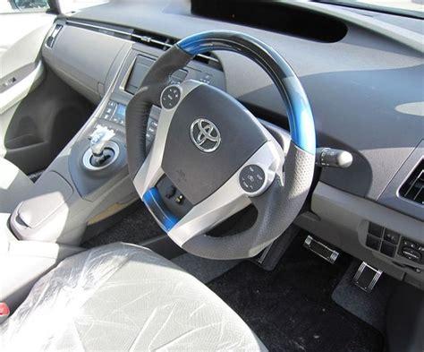 Toyota Prius Steering Wheel Cover Toyota Prius 2010 2015 Mit Hybrid Blue Black Wood Genuine