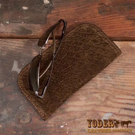 Hippo Brown brown hippo hide glasses yoder leather company