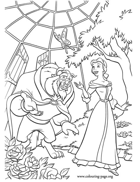 beautiful garden coloring page beauty and the beast beauty and the beast in the garden