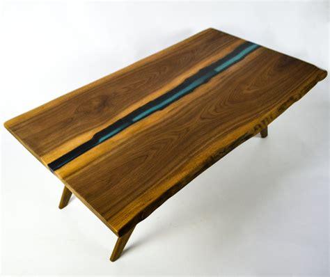 resin river coffee table handmade resin river coffee table live edge slab table on