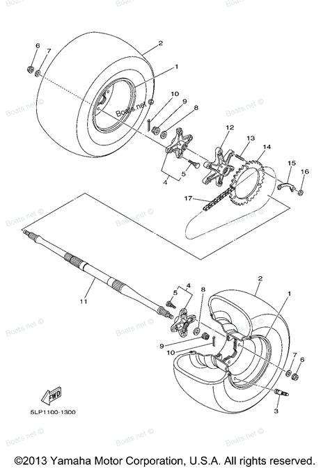 raptor 660 parts diagram 2003 raptor 660r yfm660rr yamaha atv rear wheel diagram