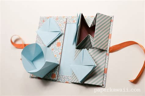 Kawaii Origami - origami thread book tutorial paper kawaii